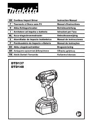Makita Visseuse à chocs 18 V Li-Ion 175 Nm (Machine seule) - DTD148Z - Notice