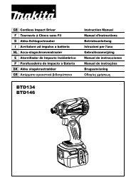 Makita Visseuse à chocs 18 V Li-Ion 3 Ah 160 Nm (3 batteries) - BTD146RFE3 - Notice