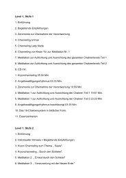 Level 1, Stufe 1 1. Einführung 2. Begleitende Empfehlungen 3 ...