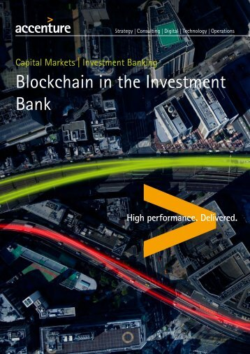 Blockchain in the Investment Bank