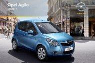 Opel Agila Année modèle 2011 - Agila  Année modèle 2011 manuel d'utilisation