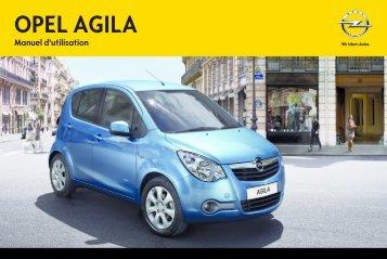 Opel Agila Année modèle 2012 - Agila Année modèle 2012 manuel d'utilisation