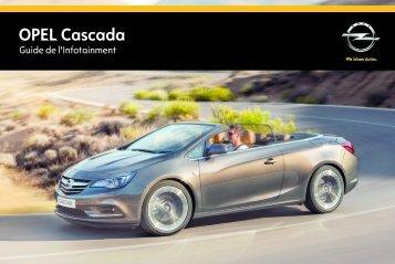 Opel CascadaInfotainment System Année modèle 2014 2eme semestre - CascadaInfotainment System  Année modèle 2014 2eme semestremanuel d'utilisation
