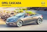 Opel CascadaInfotainment System Année modèle 2013 1er semestre - CascadaInfotainment System  Année modèle 2013 1er semestremanuel d'utilisation