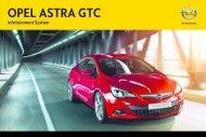 Opel Astra GTCInfotainment System Année modèle 2012 - Astra GTCInfotainment System  Année modèle 2012manuel d'utilisation