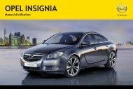 Opel Insignia Année modèle 20131er semestre  - Insignia Année modèle 20131er semestre manuel d'utilisation