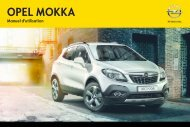 Opel Mokka Année modèle 2014 1er semestre - Mokka Année modèle 2014 1er semestre manuel d'utilisation
