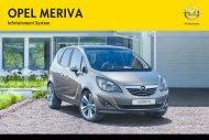 Opel MerivaInfotainment System Année modèle 2012 2eme semestre - MerivaInfotainment System  Année modèle 2012 2eme semestremanuel d'utilisation