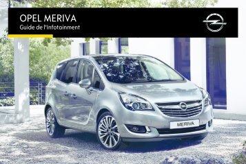 Opel MerivaInfotainment System Année modèle 20152eme semestre - MerivaInfotainment System  Année modèle 20152eme semestremanuel d'utilisation