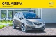 Opel Meriva Année modèle 20122eme semestre - Meriva Année modèle 20122eme semestremanuel d'utilisation