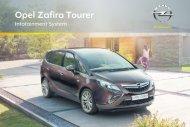Opel Zafira TourerInfotainment System Année modèle 2011 - Zafira TourerInfotainment System  Année modèle 2011manuel d'utilisation