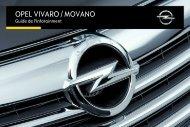 Opel Movano et VivaroInfotainment System Année modèle 2015 - Movano et VivaroInfotainment System  Année modèle 2015manuel d'utilisation
