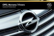 Opel Movano et VivaroInfotainment System Année modèle 2014 - Movano et VivaroInfotainment System  Année modèle 2014manuel d'utilisation