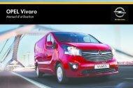 Opel Vivaro Année modèle 20142eme semestre - Vivaro Année modèle 20142eme semestremanuel d'utilisation