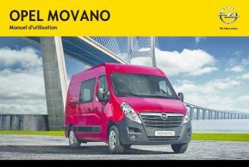 Opel MovanoInfotainment System Année modèle 2012 - MovanoInfotainment System  Année modèle 2012manuel d'utilisation