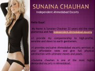 Highly satisfactory Ahmedabad escorts services