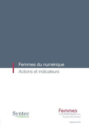 Femmes du numérique Actions et indicateurs