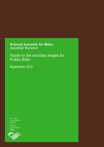 Guide to the scrutiny stages for Public Bills