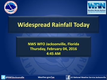 Widespread Rainfall Today