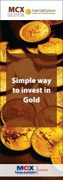 MCX Simple way to invest in Gold