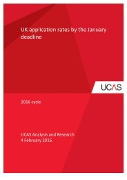 UK application rates by the January deadline
