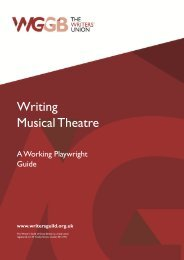 Writing Musical Theatre