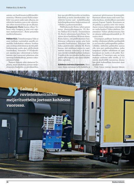 Artikkelit VV-Kuljetus Oy ja EL-Kori Oy - Raskas Kalusto 1/2016