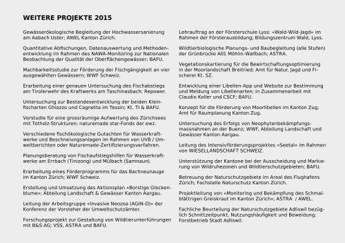 FORNAT Jahresbericht 2015