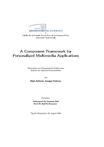 A Component Framework for Personalized ... - of Ansgar Scherp