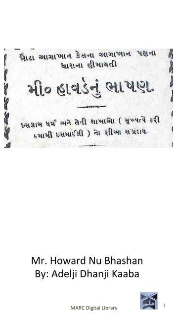Book 36 Mr Howard Nu Bhashan
