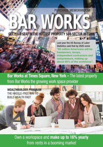 Bar Works Times Square - Office Space Investment