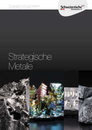 Sechs strategische Metalle aus dem Warenkorb - Informationen
