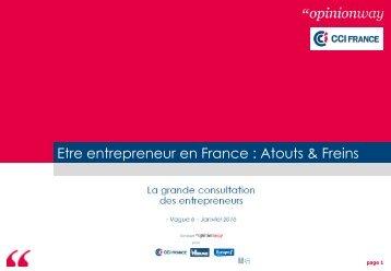 Etre entrepreneur en France  Atouts & Freins