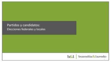 Partidos y candidatos