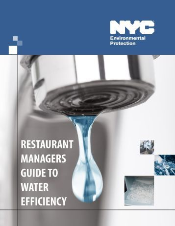 RESTAURANT MANAGERS GUIDE TO WATER EFFICIENCY