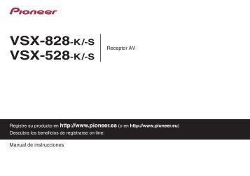 pioneer vsx 528 user manual