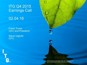 ITG Q4 2015 Earnings Call 02.04.16