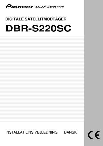 Pioneer DBR-S220SC - User manual - danois