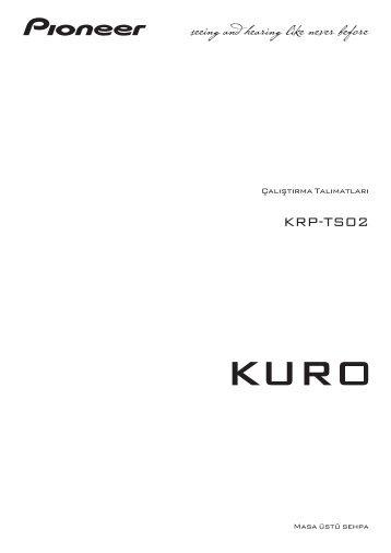 Pioneer KRP-TS02 - User manual - turc