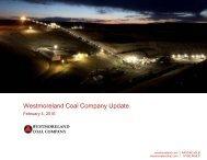 Westmoreland Coal Company Update