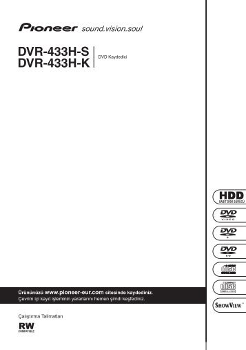 Pioneer DVR-433H-S - User manual - turc