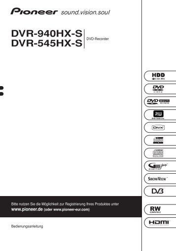Pioneer DVR-940HX-S - User manual - allemand