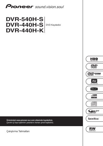 Pioneer DVR-540H-S - User manual - turc