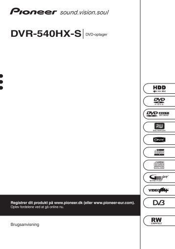 Pioneer DVR-540HX-S - User manual - danois