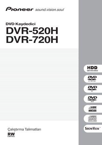 Pioneer DVR-720H-S - User manual - turc