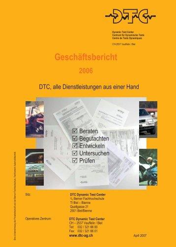 Geschäftsbericht 2006 - DTC