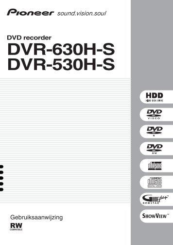 Pioneer DVR-630H-S - User manual - néerlandais