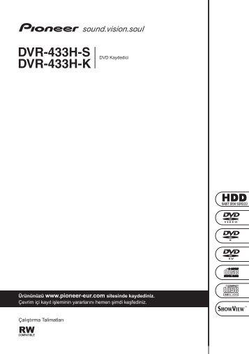 Pioneer DVR-433H-K - User manual - turc