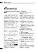 Pioneer DVR-433H-K - User manual - turc - Page 6