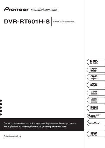 Pioneer DVR-RT601H-S - User manual - néerlandais